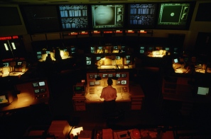 The Voyager 2 mission control room at NASA's Jet Propulsion Laboratory is also in charge of the Magellan probe and the Deep Space Network. | Location: near Pasadena, California, USA. (Photo by Roger Ressmeyer/Corbis/VCG via Getty Images)